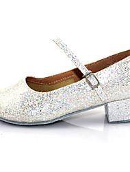 Sapatos de Dança (Branco/Cinzento/Dourado) - Mulheres/Crianças - Não Personalizável - Moderno