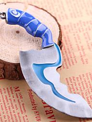 unisex giovane della lega monili cosplay Dota 2 lampeggio portachiavi portachiavi ciondolo pugnale fibbie chiave