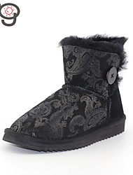 MG Winter Boots Warm Flat Heel Boots New Arrive Women's Boots Snow Twinface Sheepskin Shoes 2015 Autumn and