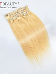 16-22 inch clip in remy human hair extensions kleur 613 #