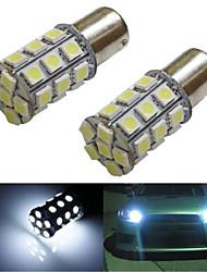 lorcoo ™ 2pcs BAY15D 1156 27 SMD 5050 LED voiture queue frein d'arrêt de lumière de clignotant 12v blanc