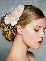 Hand Made Wedding Feather Hair Clip Fascinator Headpieces Fascinators 012
