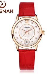 EASMAN® Watch Women Brand Fashion Genuine Leather Women Quartz Watch Red White Diamante Wristwatches Hot Watches Cool Watches Unique Watches