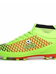 Zapatos Fútbol Semicuero Negro / Naranja Hombre