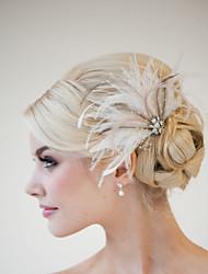 Hand Made Wedding Feather Hair Clip Fascinator Headpieces Fascinators 035