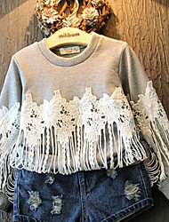 Kid's Casual Embroidered Long-sleeved Sweater Top