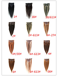 Clip-in Hair Extension Natural Human Hair Soft Remy Brazilian Hair Product with Clip in - 20 Colors Available