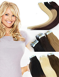 """Cheap Tape Hair Extensions 18"""" 20"""" 22"""" 20pcs 100% Thick Remy Brazilian Human Skin Weft Colorful Hair 001"""