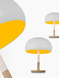 Mushroom Table Lamp/1 Light/Classical/Artistic/Modern Simplicity/White & Yellow/Wood& Aluminum/