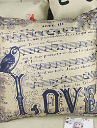 Love Music Score Decorative Pillow Cover(17*17 inch)