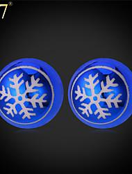 U7® Women's Romantic Snowflake Double Sided Earrings 2015 New Fashion Jewelry Blue Pearl Jewelry Double Pearl Earrings