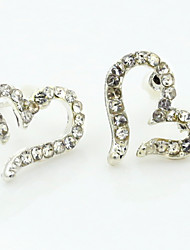 Earring Stud Earrings / Drop Earrings Jewelry Women Alloy / Cubic Zirconia / Platinum Plated 1set Silver