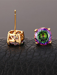 U7® Women's Mystic Rainbow Earrings for Women CZ Jewelry Platinum/Gold Plated Exquisite Cubic Zirconia Stud Earrings