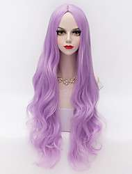 80cm Long Loose Wavy U Part Hair Light Purple Heat-resistant Synthetic Vogue Party Wig