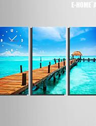 E-HOME® Coast Clock in Canvas 3pcs