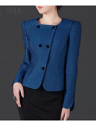 Women's Long Sleeve Blazer , Polyester Short Sexy/Casual/Party/Work