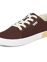 Zapatos de Hombre - Sneakers a la Moda - Casual - Tela - Marrón / Gris