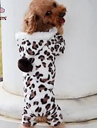 Gatos / Perros Saco y Capucha / Pantalones Negro Invierno Leopardo Boda / Leopardo / Cosplay