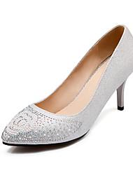 Women's Shoes  Stiletto Heel Heels/Pointed Toe Pumps/Heels Wedding/Party & Evening/Dress Black/Silver/Gold