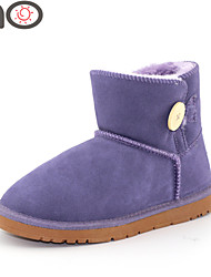 MO Fur Snow Boots Cowhide Leather 2015 New Fashion Shoes Girls Winter Boots