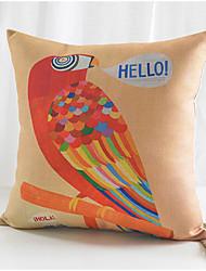 papagaio algodão colorido / fronha decorativo linho