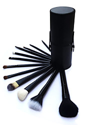 12 Cylinder Makeup Brush High-grade Animal Wool Makeup Suit With Cosmetic Tube