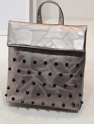 Women 's PU Sling Bag Tote - Gold/Brown/Silver/Black