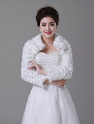 Wedding  Wraps / Fur Wraps / Fur Coats Coats/Jackets Faux Fur Ivory