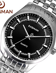 EASman Brand Mens Watches Designer Watch Watch Brands Casual Steel Band Silver Black Watches for Men Gift Wristwatch