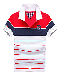 Herren Solide Gestreift Druck Einfach Street Schick Aktiv Alltag Normal Outdoor Kleidung Freizeit Sport Lässig/Alltäglich Arbeit Polo,