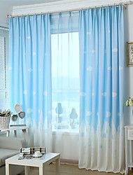 One Panel  Printing Curtain Three Color Curtain Drape