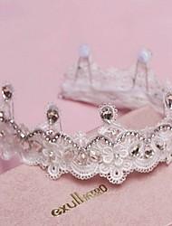 Women's Lace/Rhinestone Headpiece - Wedding/Special Occasion Tiaras 1 Piece