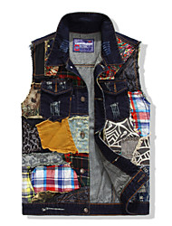 Men's Fashion Washed Slim Denim Vest