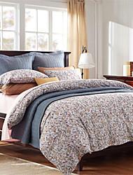 H&C Long Staple Cotton 1000TC Duvet Cover Set 4-Piece Flowers Pattern MT12-001