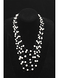 MAYA Gorgeous Freshwater Pearl Necklace .