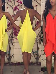 Vestidos ( Gasa )- Sexy / Playa / Casual Tirantes Sin Mangas para Mujer