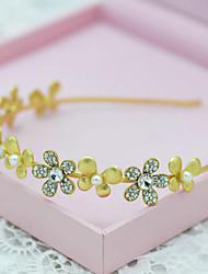 Vintage Alloy Rhinestones Wedding/Party Bridal Headpieces/Headbands with Imitation Pearls