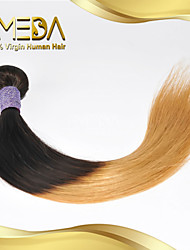 Good Cheap Malaysian Virgin Human Hair Silk Straight Ombre Hair Weaves 2 Tone 1B/27 Color 1PCS Only  8''-30''