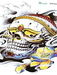 10 Pcs Jewelry Skull Temp Tattoo Stickers