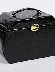 WEST BIKING® Fashion Series Portable Dressing Leather Jewelry Box Large Capacity