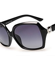 Sunglasses Women's Elegant / Modern / Fashion / Polarized Square Black / Dark Red / Purple / Leopard Sunglasses Full-Rim