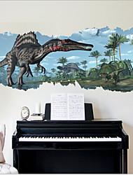 2015 1459 nova zooyoo® filme clássico parque jurássico dinossauros adesivo de parede