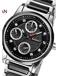 EASMAn Brand Women Ceramic Watch Quartz Watch Fashion Zircon Jewelry Black Ceramic Watches Women For Ladies Wristwatches