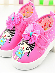 Baby Shoes - Casual - Sneakers alla moda - Tessuto - Rosa / Rosso