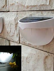 alimentato lampada luce principale giardino esterno solare sensore automatico solare attivato ha condotto la luce (bianco)