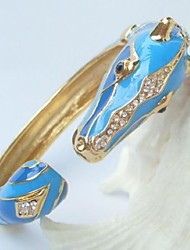 Pretty Horse Bracelet Bangle With Clear Rhinestone crystals