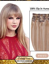 """Couleur 18/613 pince de 18 """"dans remy extensions de cheveux humains"""