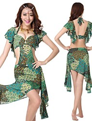 Roupa (Verde Maça / Preto / Fúcsia / Verde , Elastano , Dança do Ventre) - de Dança do Ventre - Mulheres