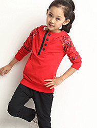 Girl's The new national wind sports  Clothing Set