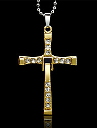 Vilam®  Zinc Alloy Cross Crucifix Necklace Flexible with Silver Ball Chain Fast And Furious